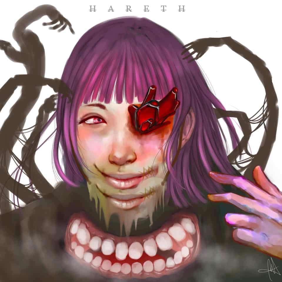 Guilty Illust of Hareth #fantasy #homunculo anime #Guilty #dark #horror manga #alquimia #gore #mangaka