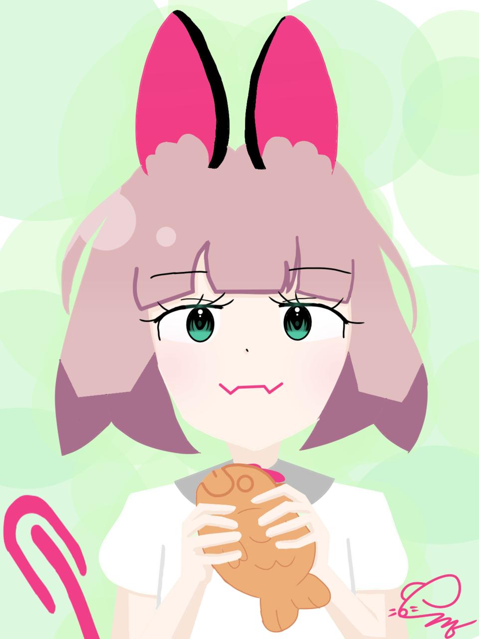 Mei-Mi Chan Illust of 💜셴뮤🌌 medibangpaint takoyaki meimi-chan green