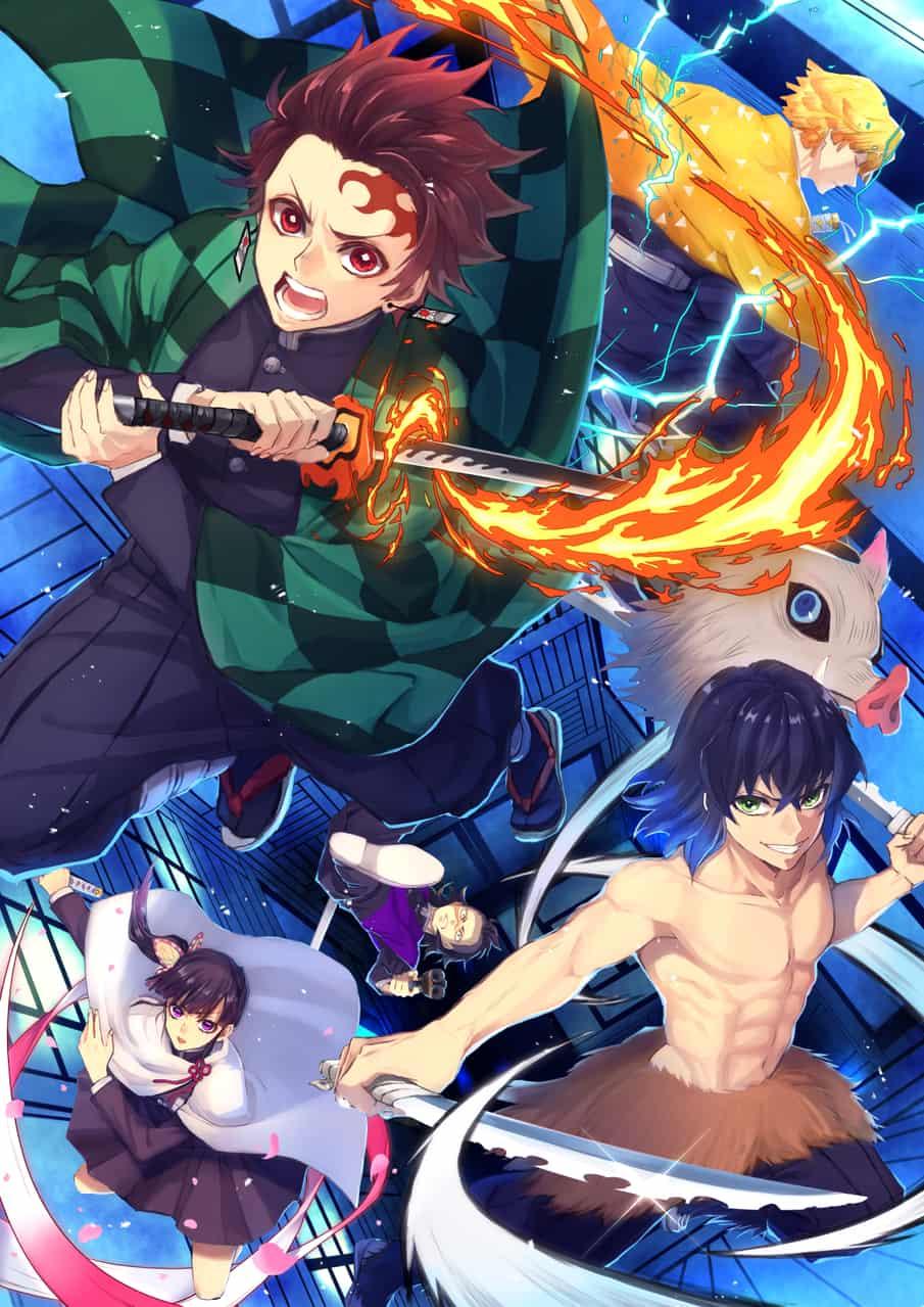 同期5人 Illust of ゆんちょ DemonSlayerFanartContest KamadoTanjirou KimetsunoYaiba ShinazugawaGenya HashibiraInosuke AgatsumaZenitsu TsuyuriKanao