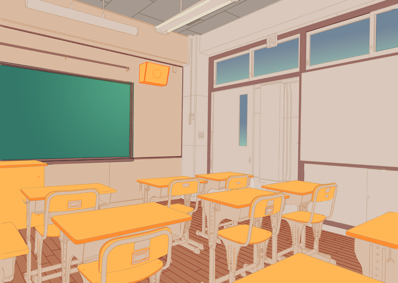 normal classroom Illust of Alayo Background_Image_Contest BackgroundImageContest_Coloring_Division
