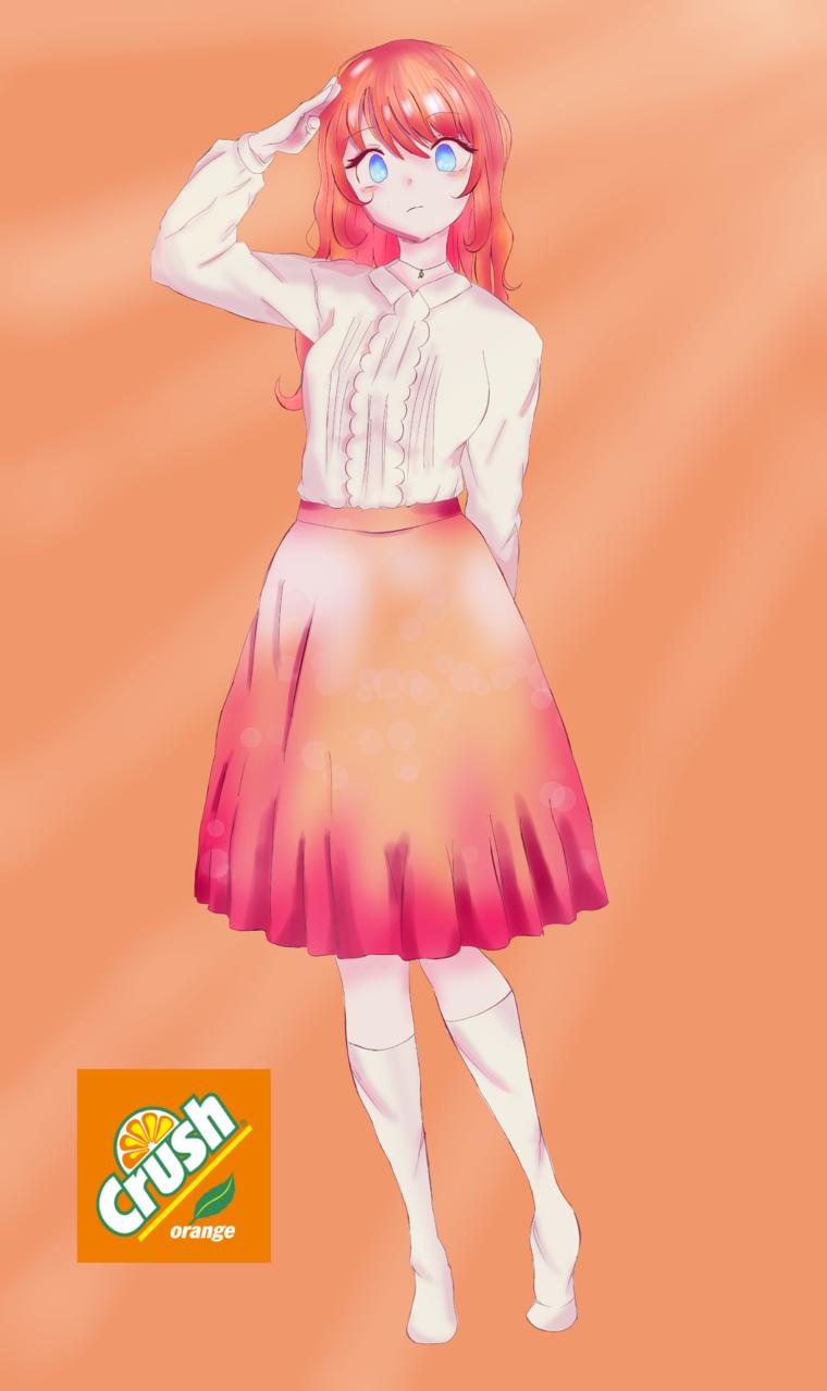 orange crush Illust of ☆°•chloe•°☆ medibangpaint cute art animeart oc anime thisartshouldlvlup animegirl orange