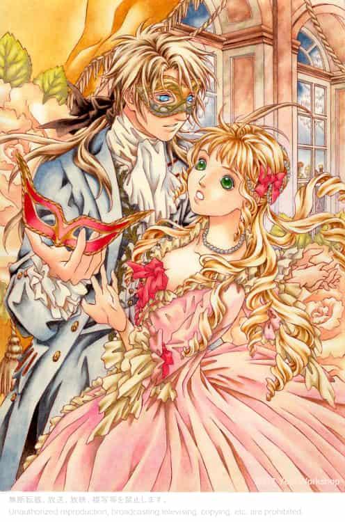 仮面舞踏会 Illust of よーぴーワークショップ romance watercolor 仮面 舞踏会 oc original アナログ dress