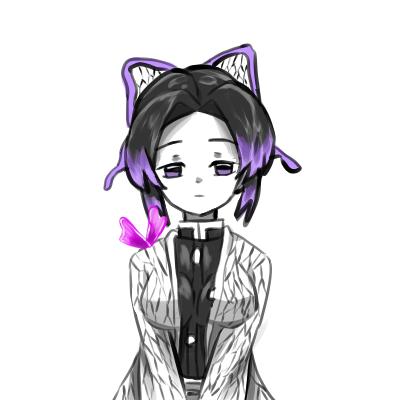 半目のしのぶちゃん Illust of 貞子の孫(名探偵) 半目 KimetsunoYaiba 蝶々を添えて しのぶちゃん