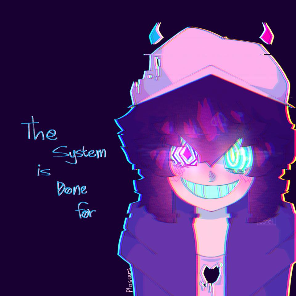 The System was broken  Illust of Plasters medibangpaint Echo! oc