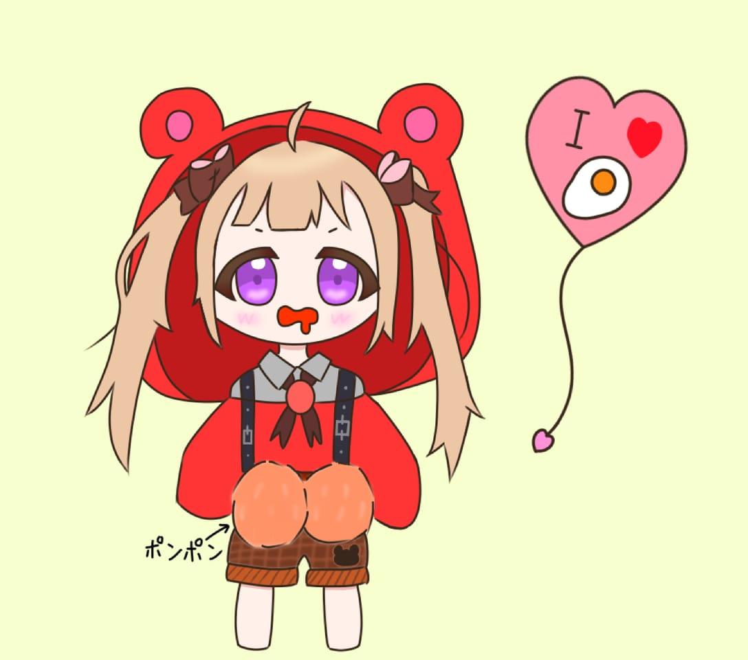 めだまやきちゃんへ! Illust of くま丸。 めだまやき cute くま丸。 応援