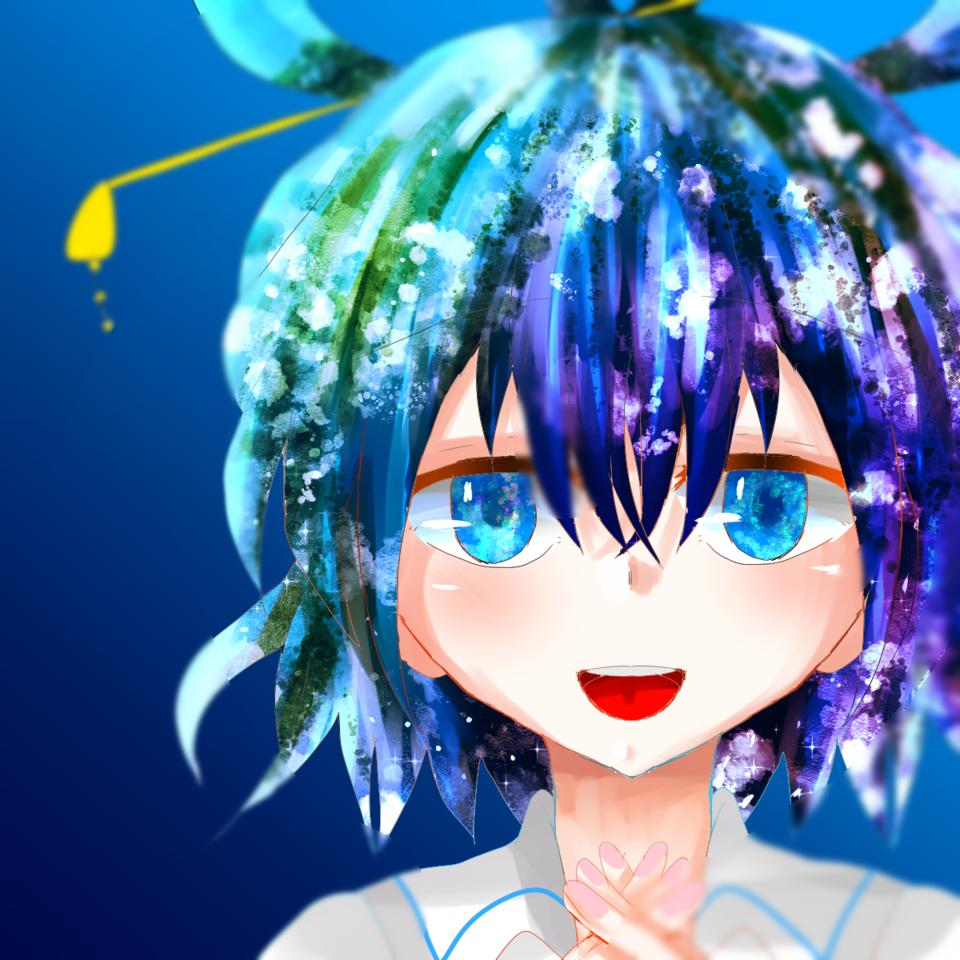❤️ Illust of お茶湯 青髪 girl Touhou_Project original 霍青娥