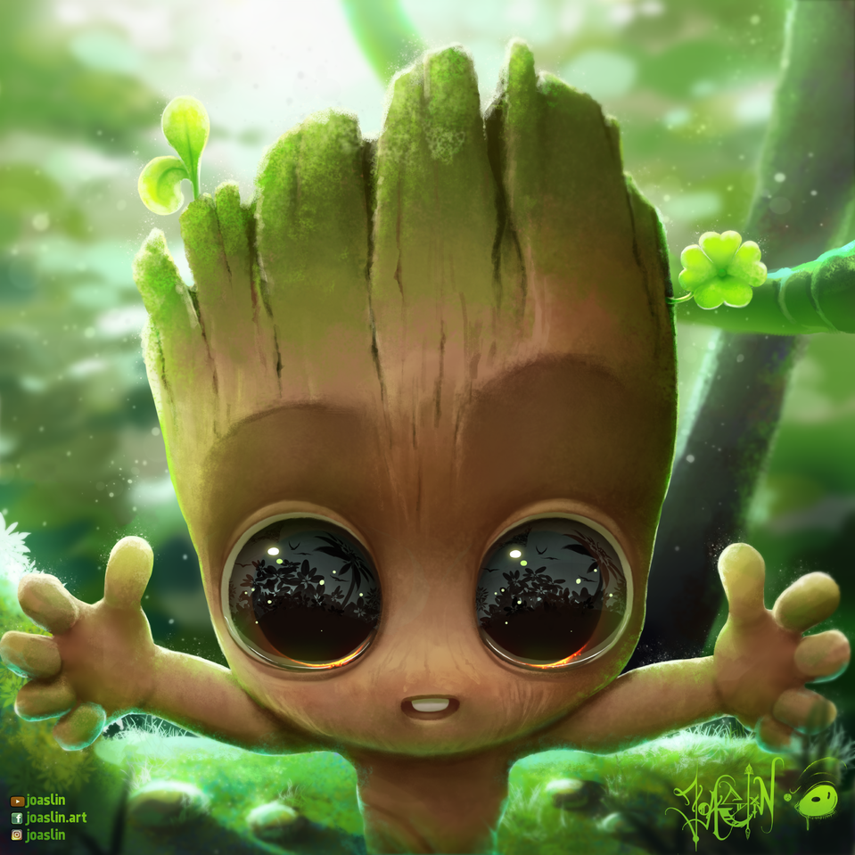 Baby Groot 🍀 (We are Groot)  Illust of JoAsLiN ARTstreet_Ranking art GuardiansoftheGalaxy drawing baby Marvel cute illustration groot hug eyes