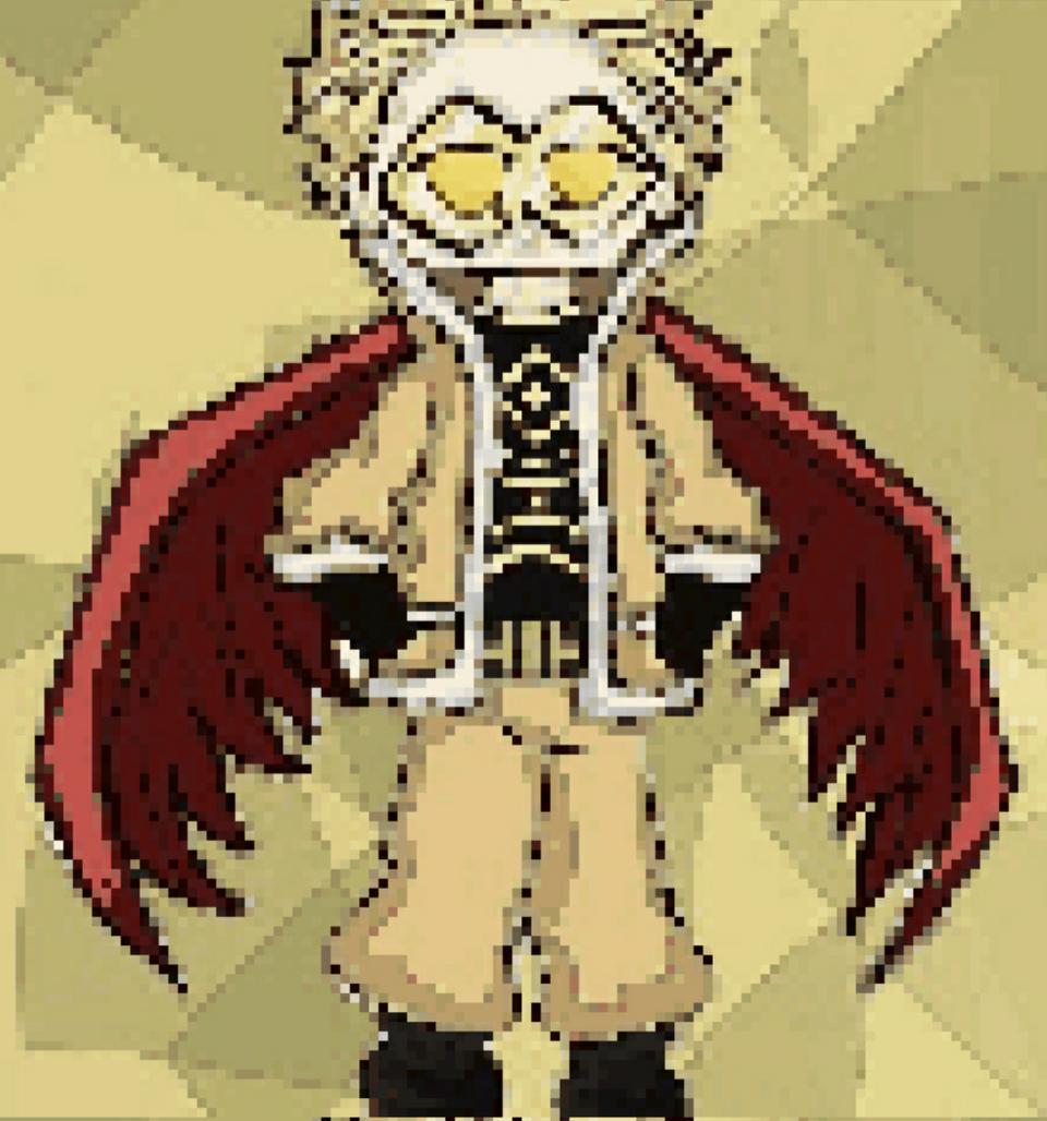 Hawks ( pixelart) hope u like it Illust of Ph@nt0m medibangpaint wings anime pixelart man ホークス MyHeroAcademia