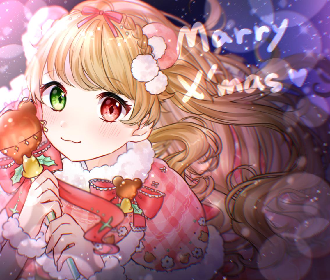 Happy Merry Xmas! Illust of 碧空こはく。 December2020_Contest:Santa Christmas illustration girl digital drawing oc