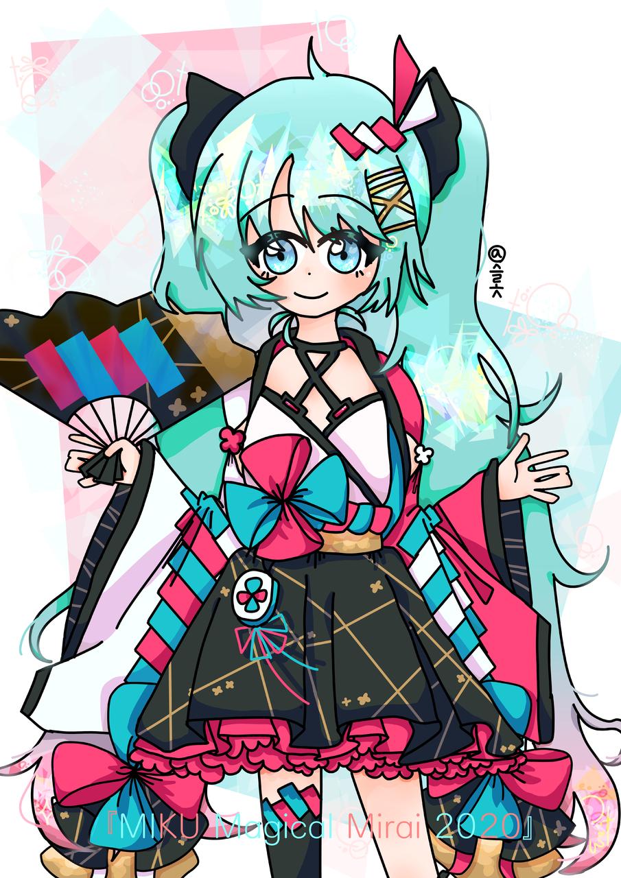 MIKU Magical Mirai 2020 Illust of ⊰박슬롯ˢᵉᵒˡˡᵒˢ⊱ 메지컬미라이 fanart hatsunemiku
