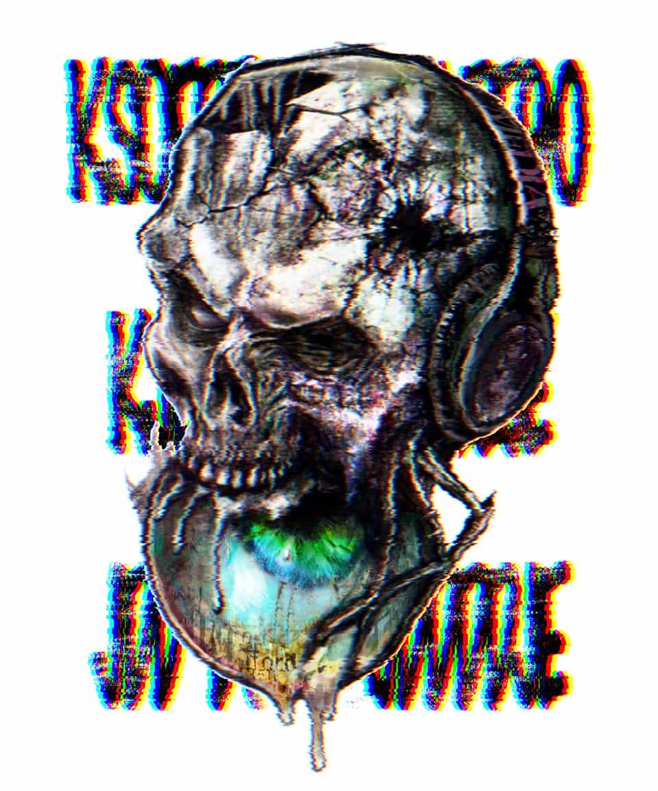 skull Illust of U-K horror August2020_Contest:Horror dark 2020 illustration media eyes digital art headphones skull