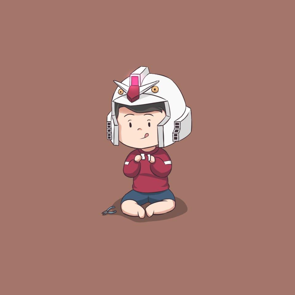 I want a new Gunpla Illust of Yukka giftyouwant2020 giftyouwant2020:10000YenGift medibangpaint illustration beginner cartoon cute hobby GUNDAM