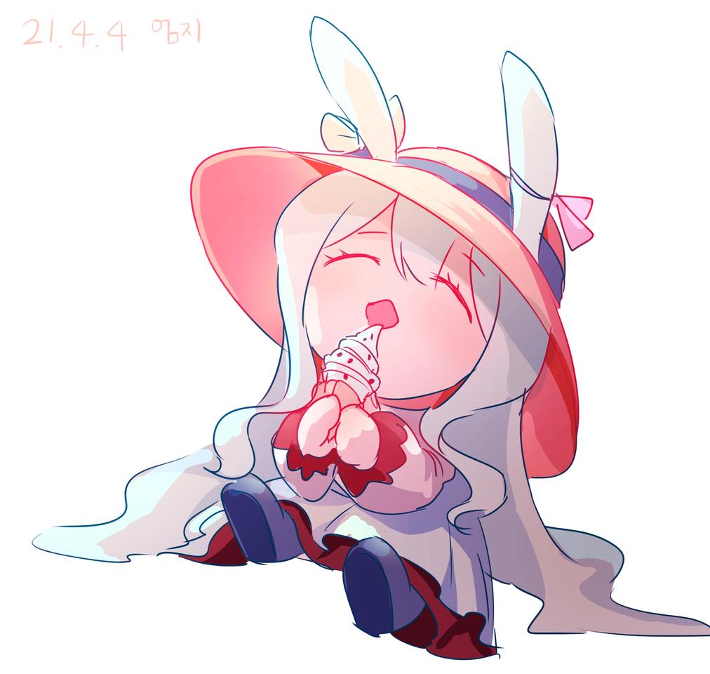 들산님 오너캐 Sd Illust of 엄지손가락👍 medibangpaint rabbit chibi