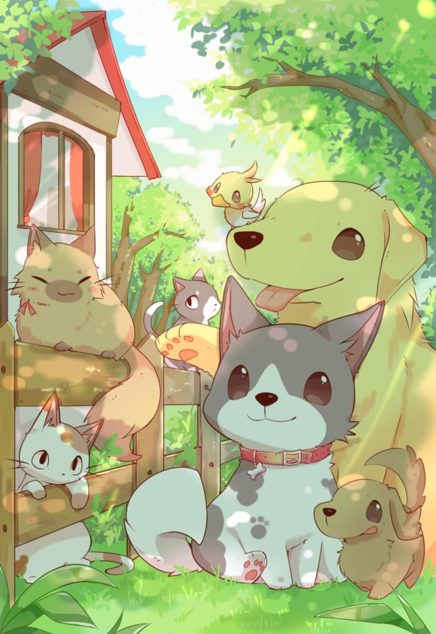 木漏れ日 Illust of ushiinu original animal dog