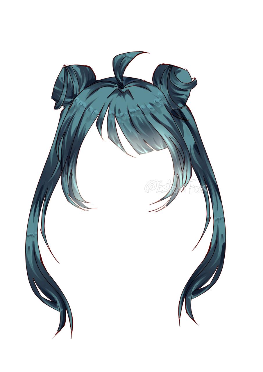 Practice Of Hair Anime (Girl) Illust of @DEAD_girl (Estela fox) medibangpaint