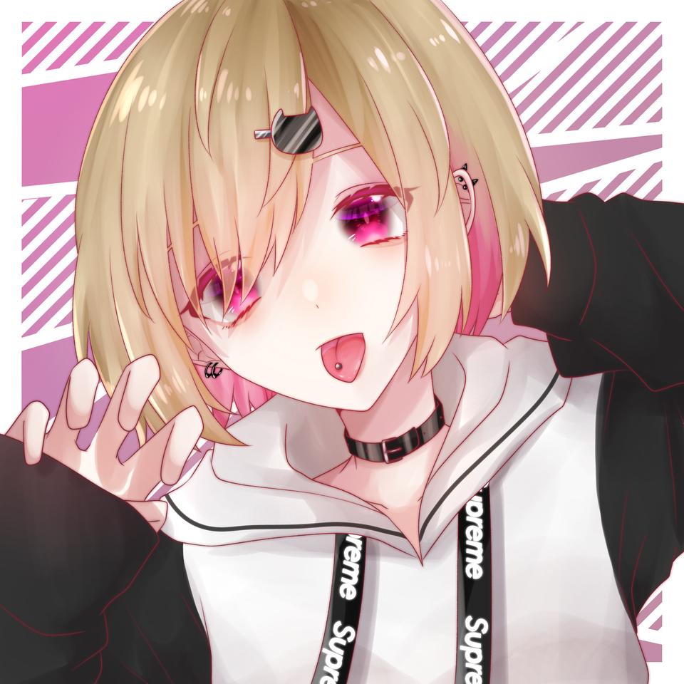 んん〜 Illust of 横田えぐ medibangpaint girl piercing original
