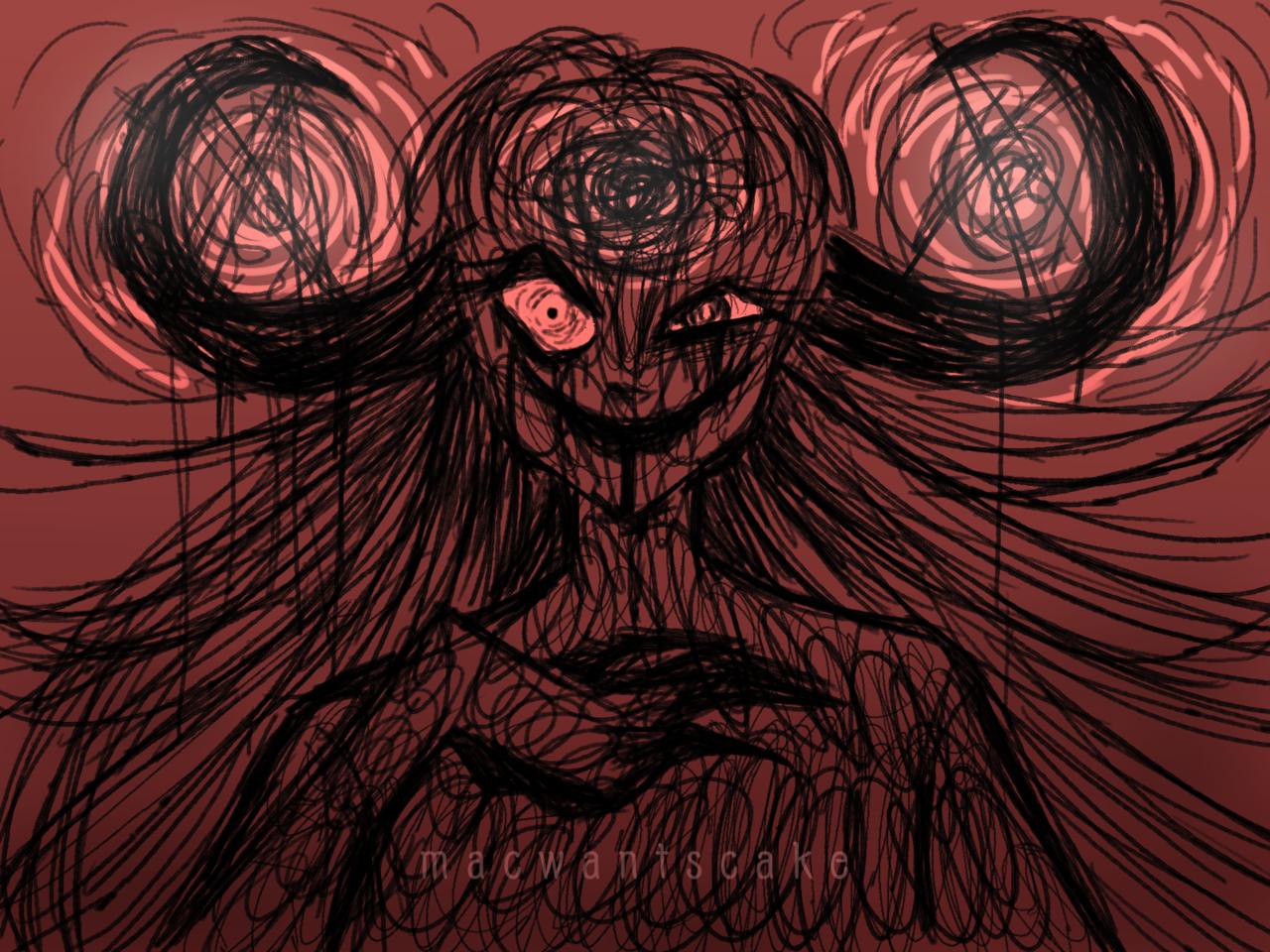 Don't Make Mother Angry Illust of Mac.wants.cake horror August2020_Contest:Horror demon MyArt originalart oc demongirl