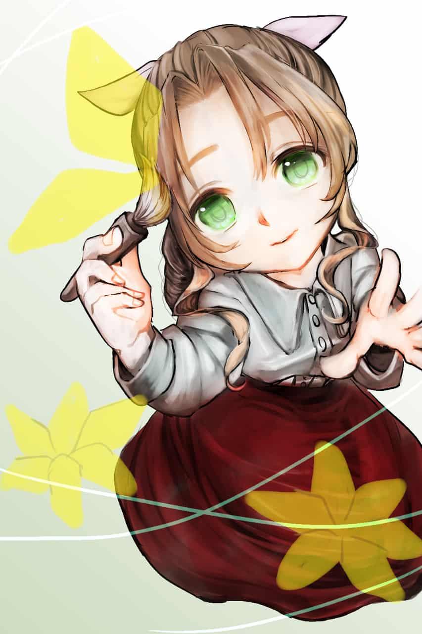 めじるし Illust of えふ氏 FINALFANTASYⅦ girl エアリス