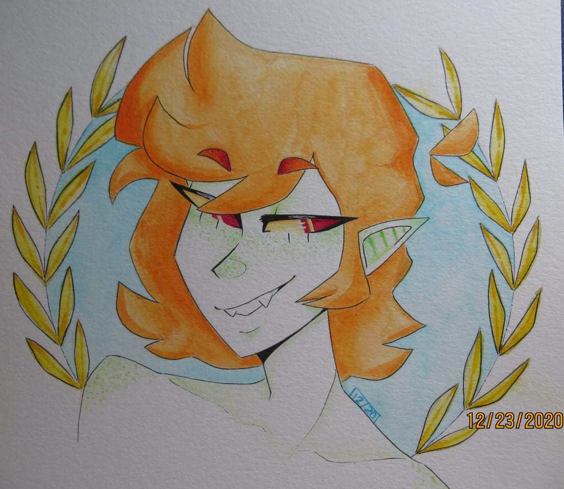 redraw  Illust of luzbian is in love vampirematt watercolor redraw