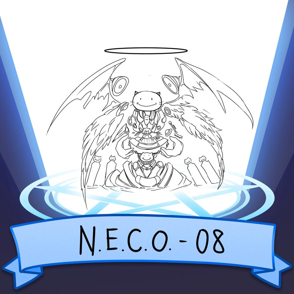 N.E.C.O-08 Illust of yokogon 機械天使 cat 謎の生物 DJ SoBadItsGood