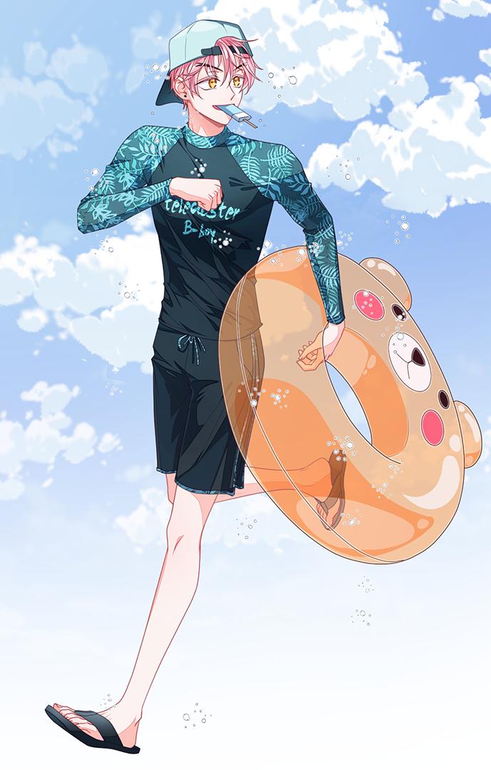 summer Illust of 십삼 boy illustration oc original