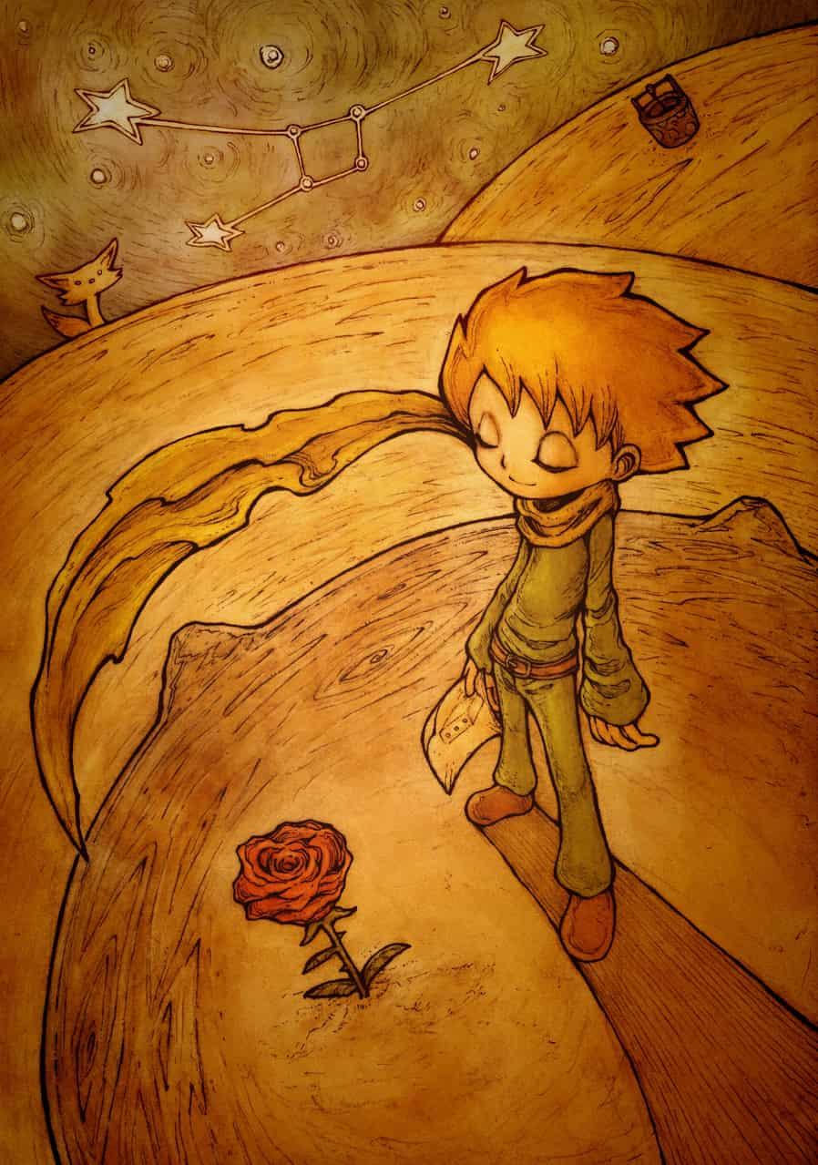 【BB49-5】星の王子さま Illust of ウスイソト アントワーヌ・ド・サン=テグジュペリ TheLittlePrince BB49