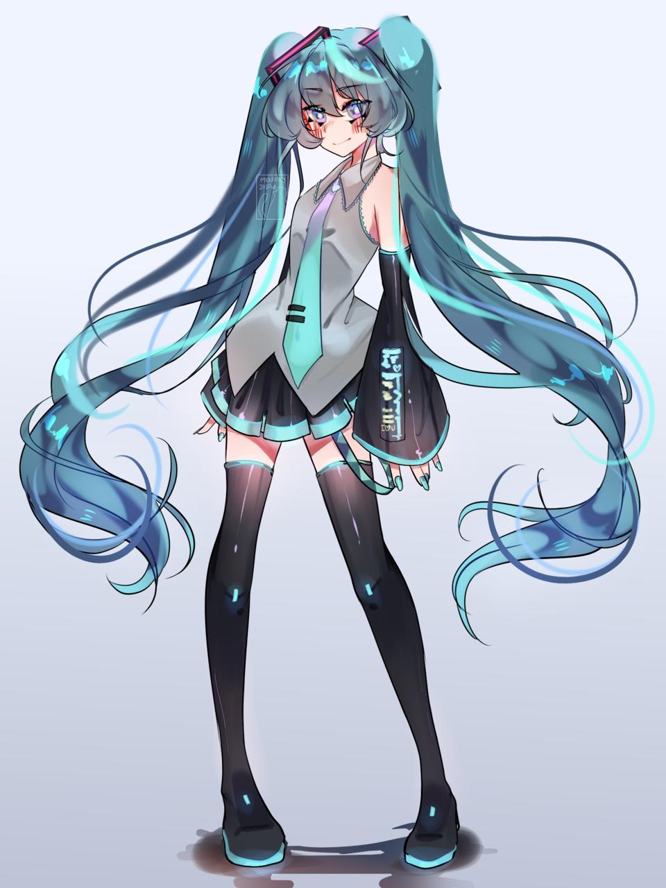 Vocaloid Queen Illust of Mist dress VOCALOID hatsunemikuredraw digital