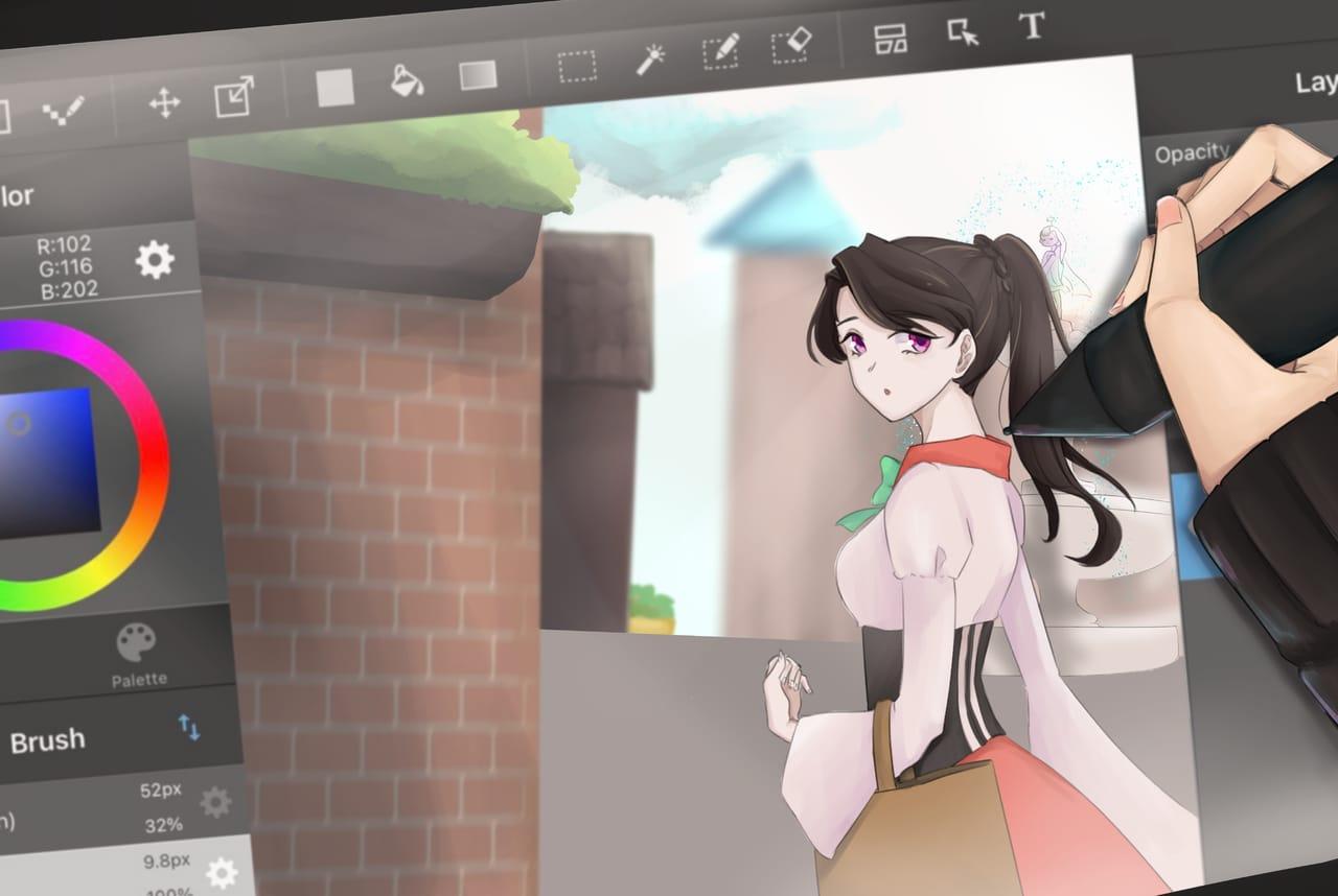 Work in Process Illust of DazePierrot ART_street_Illustration_Book_Contest
