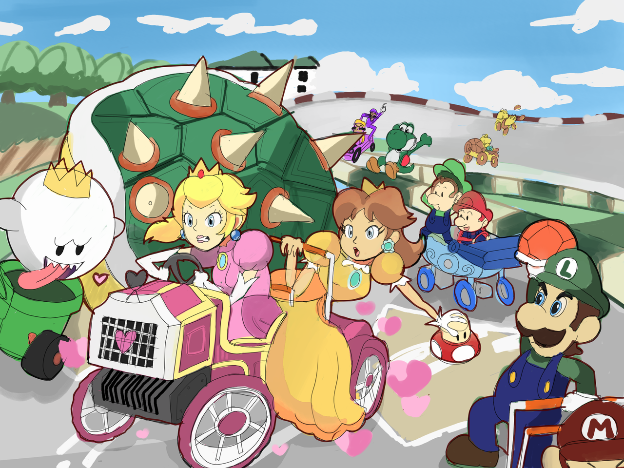 Mario Kart Double Dash Bowser Shell Madness