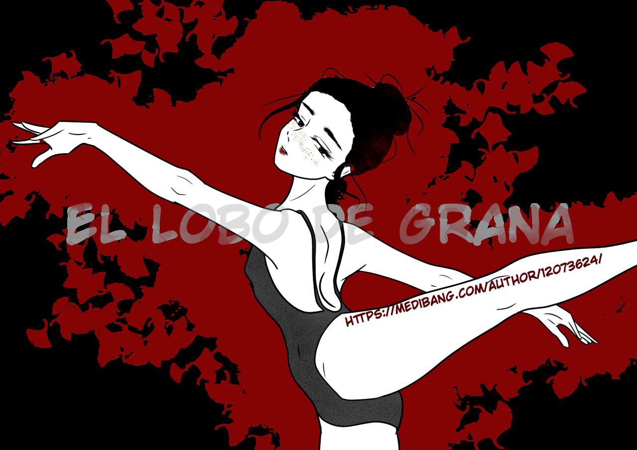Red dance Illust of El Lobo de Grana red woman dancer black white png blackhair