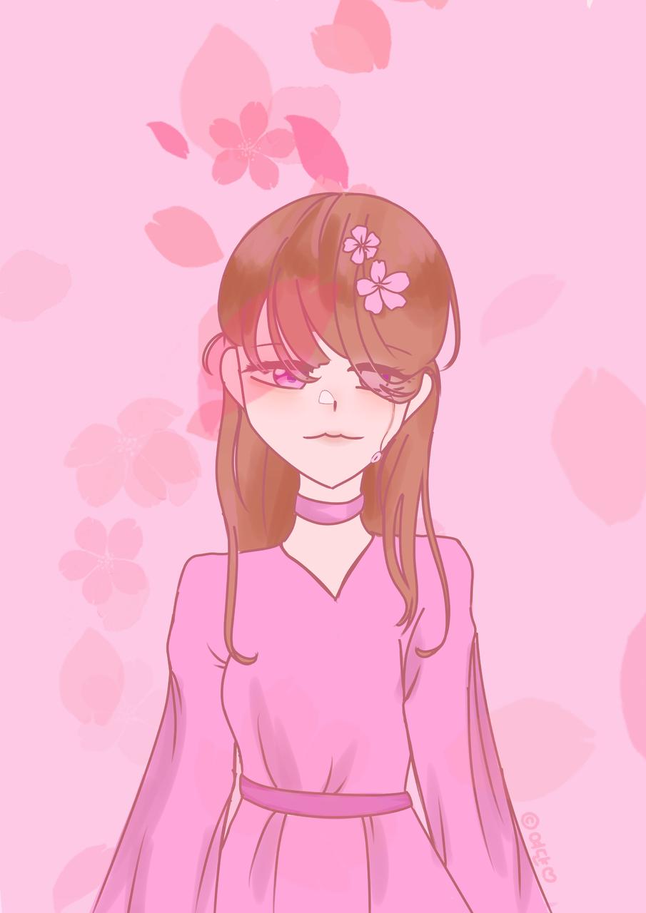 율언니 리퀘 Illust of 여댠_𝕐𝕖𝕠𝕕𝕪𝕒𝕟𖤐 pink sakura 여댠 request