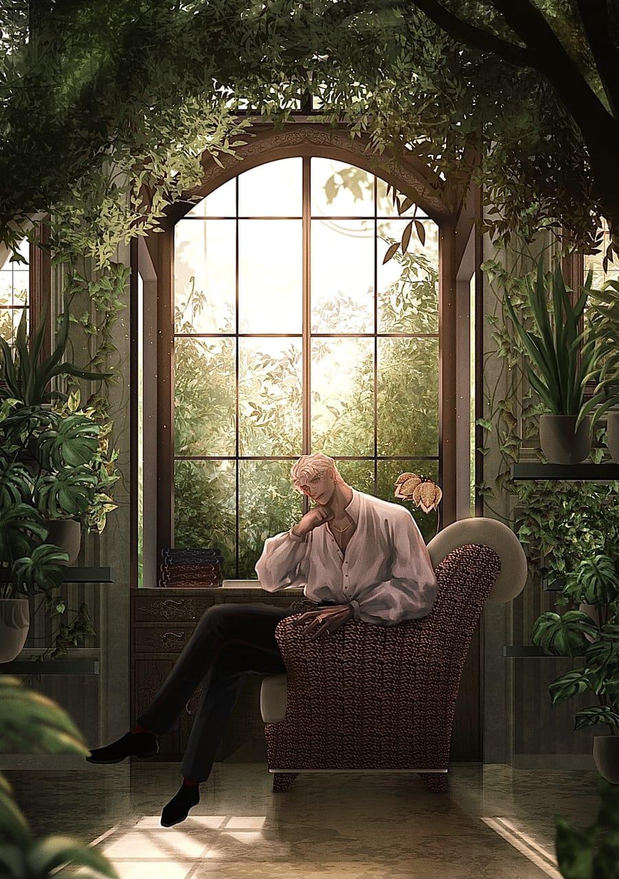 秘密の場所 Illust of BUZZ background original 植物 boy scenery