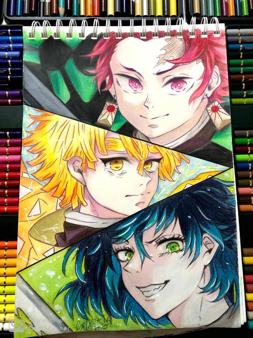 Tanjirou - Zenitsu - Inosuke || Kimetsu no Yaiba  Illust of Abrar Chan DemonSlayerFanartContest art KamadoTanjirou fanart Fanarts fan anime drawing KimetsunoYaiba Animedraw Drawings