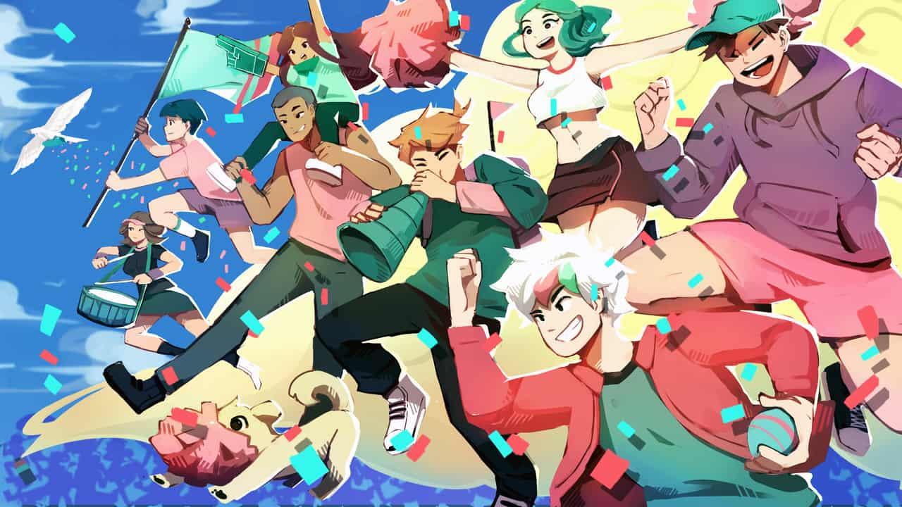 Cheer Onwards !! Illust of Cyrosaur sports May.2020Contest:Cheering Teal pink Cheering