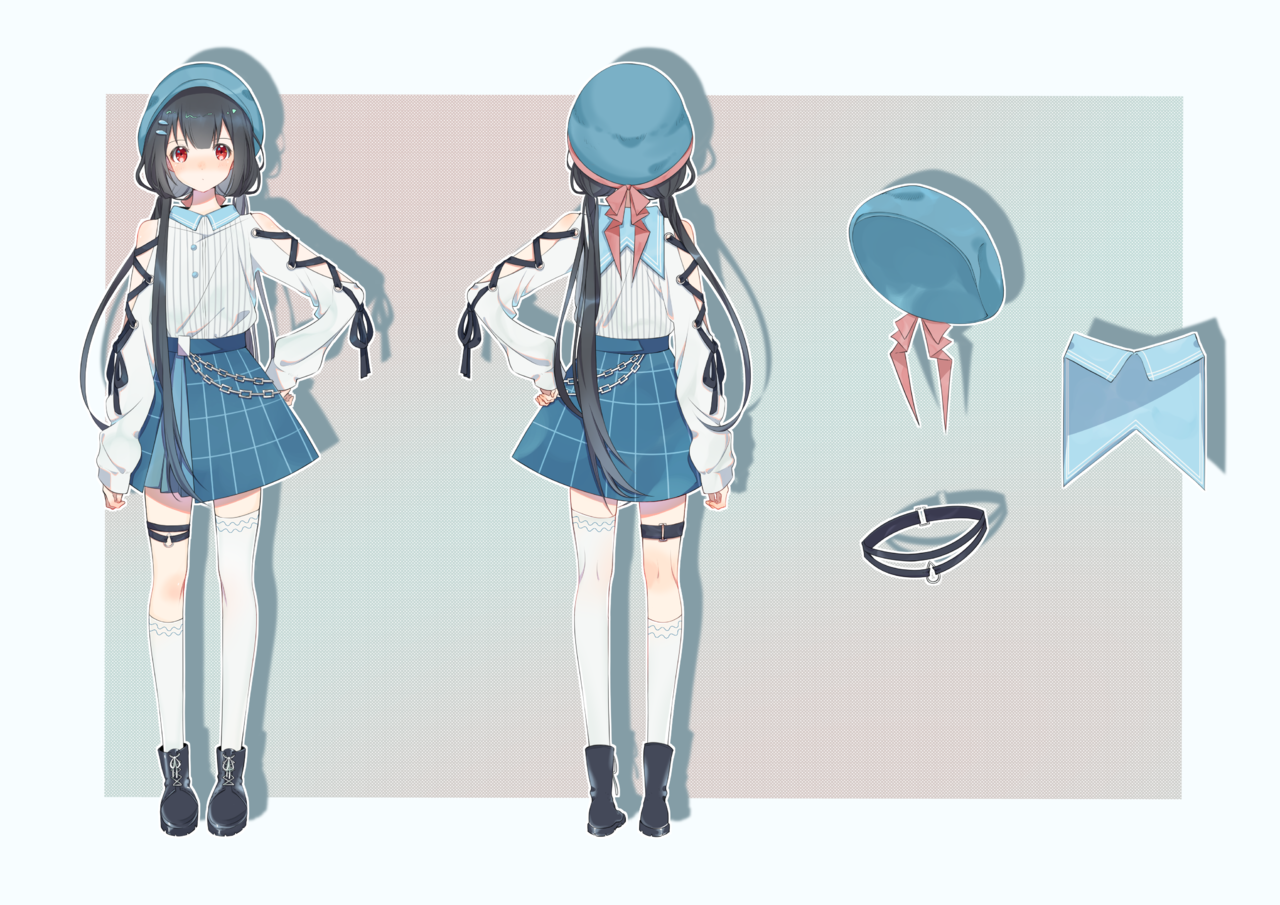 是立绘稿(优雅 Illust of 時雨 girl original