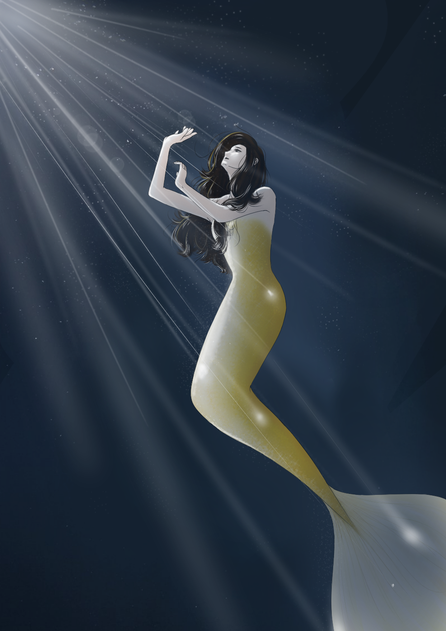 I drew it with reference to the pose in the photo. Illust of Rowan(로완) medibangpaint mermaid