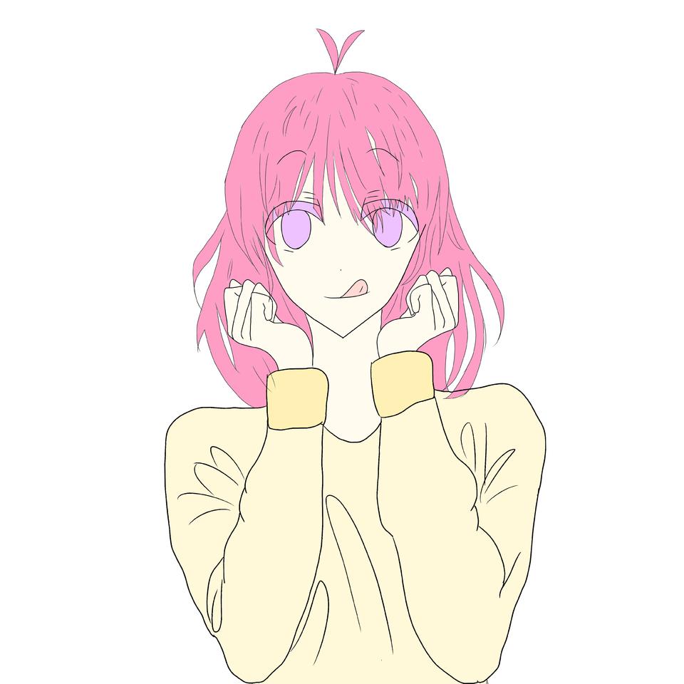 女の子描いてまーす Illust of しゃっくりみかん pinkhair girl woman