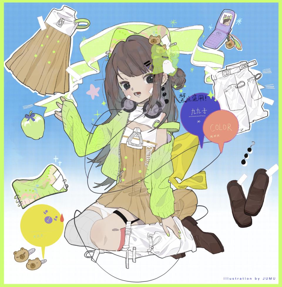 东宝服设商店🈺️ Illust of 九木口冬 稿子 illustration 服装设计 设计