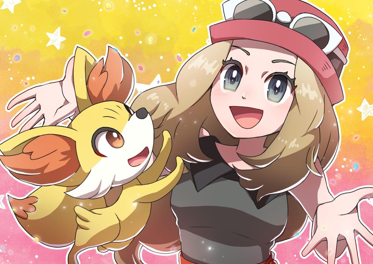 セレナとフォッコ Illust of 日夏なつお セレナ pokemon フォッコ ポケモンXY