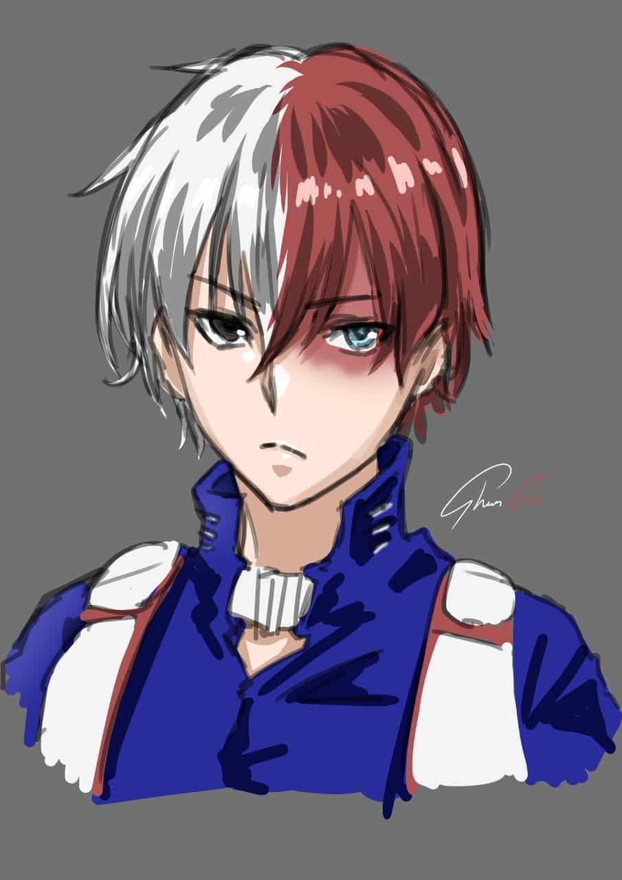 轟焦凍 Illust of しゅんせ竣瀬 illustration fanfic Shoto_Todoroki boy anime fanart MyHeroAcademia manga