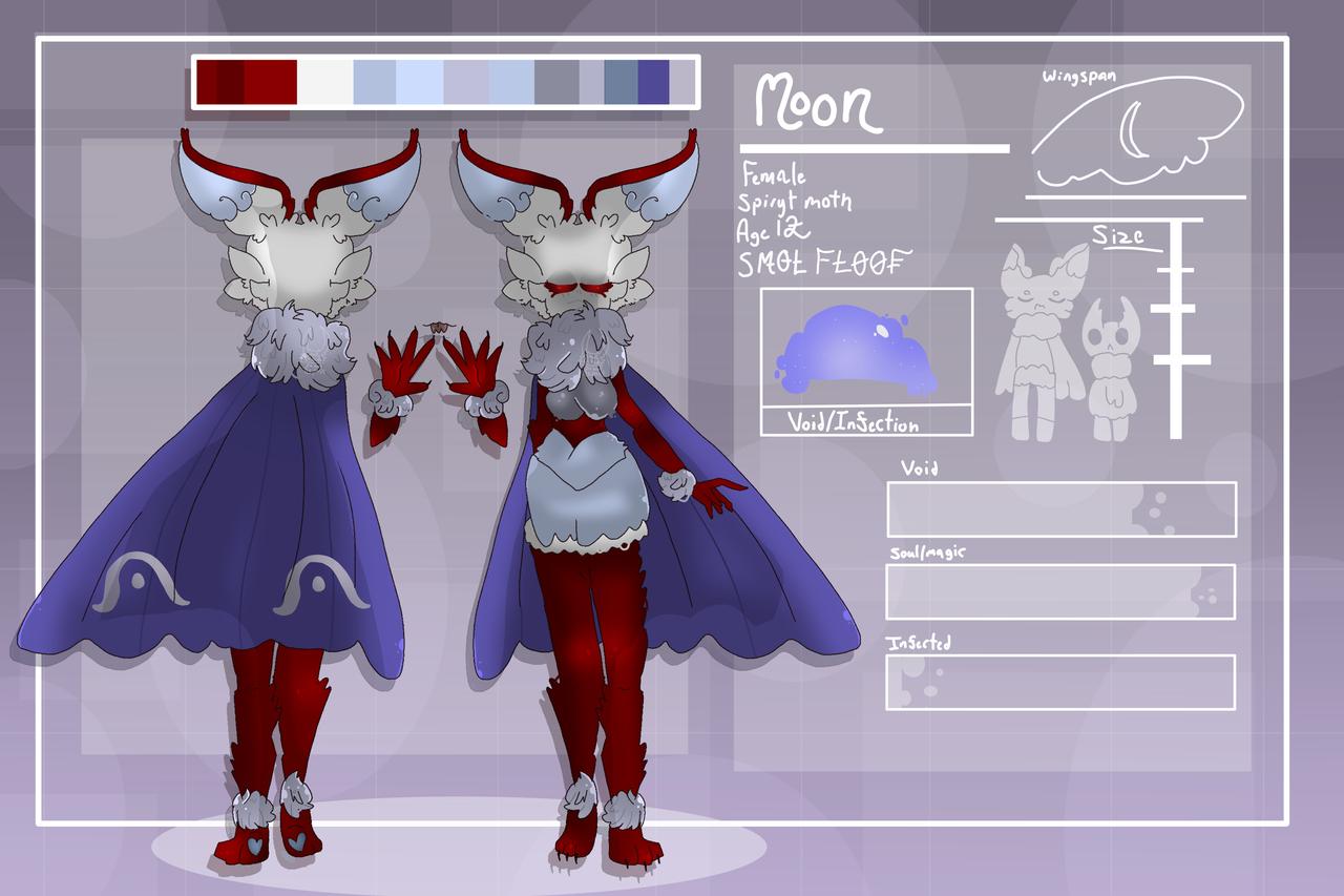 (Updated) Moon Ref Sheet  Illust of Squidkid64 medibangpaint oc HollowKknight cute Hollow_Knight hk adopt Squidkid64 refsheet moth