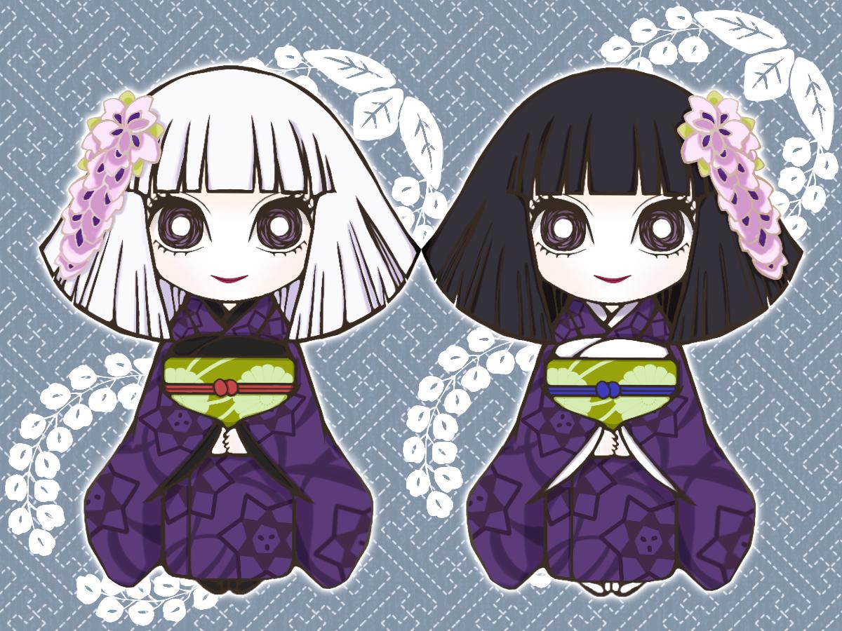 白髪と黒髪 Illust of 桜魚館 DemonSlayerFanartContest KimetsunoYaiba
