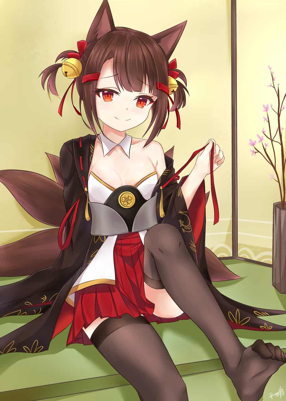Anime [Akagi-Chan]  Illust of Ransei48 anime kimono AKAGI kawaii cat_ears AzurLane animegirl