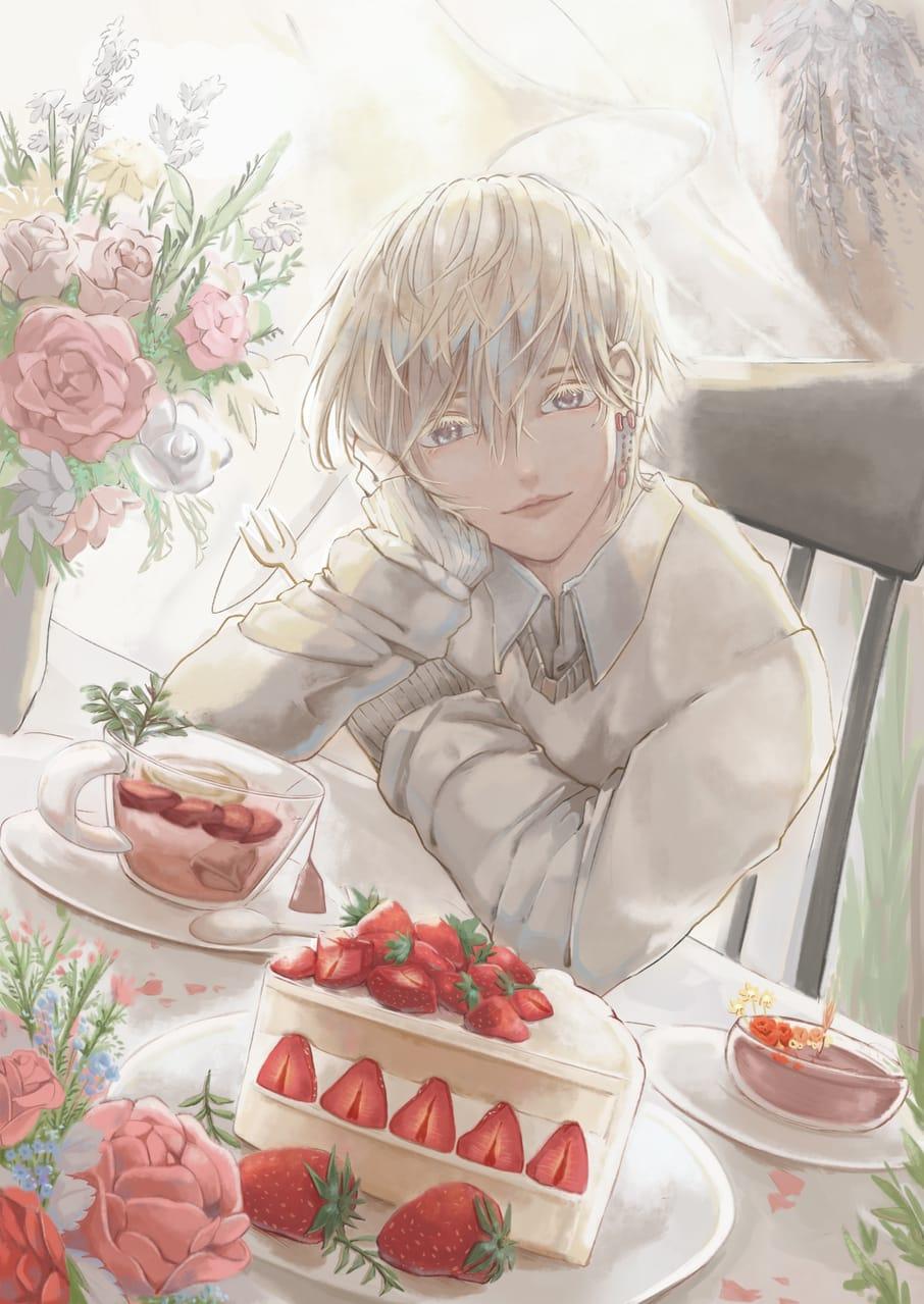 Strawberry 🍓 Illust of Sago October2020_Contest:Food food portrait original boy medibangpaint5000 甜點