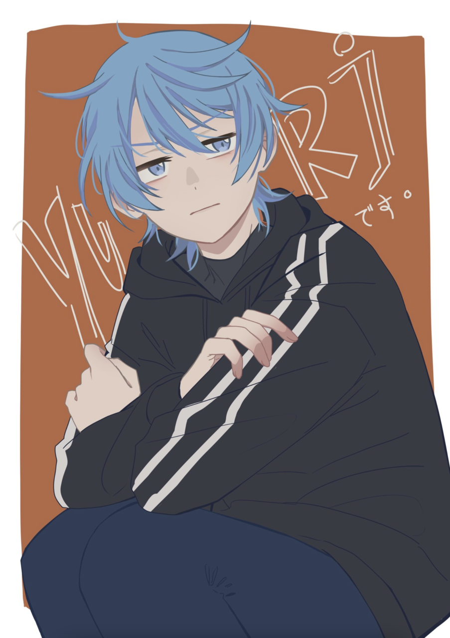 YURI Illust of AsterClovis original blue OurFlowerLanguage oc anime YuriKielo originalcharacters