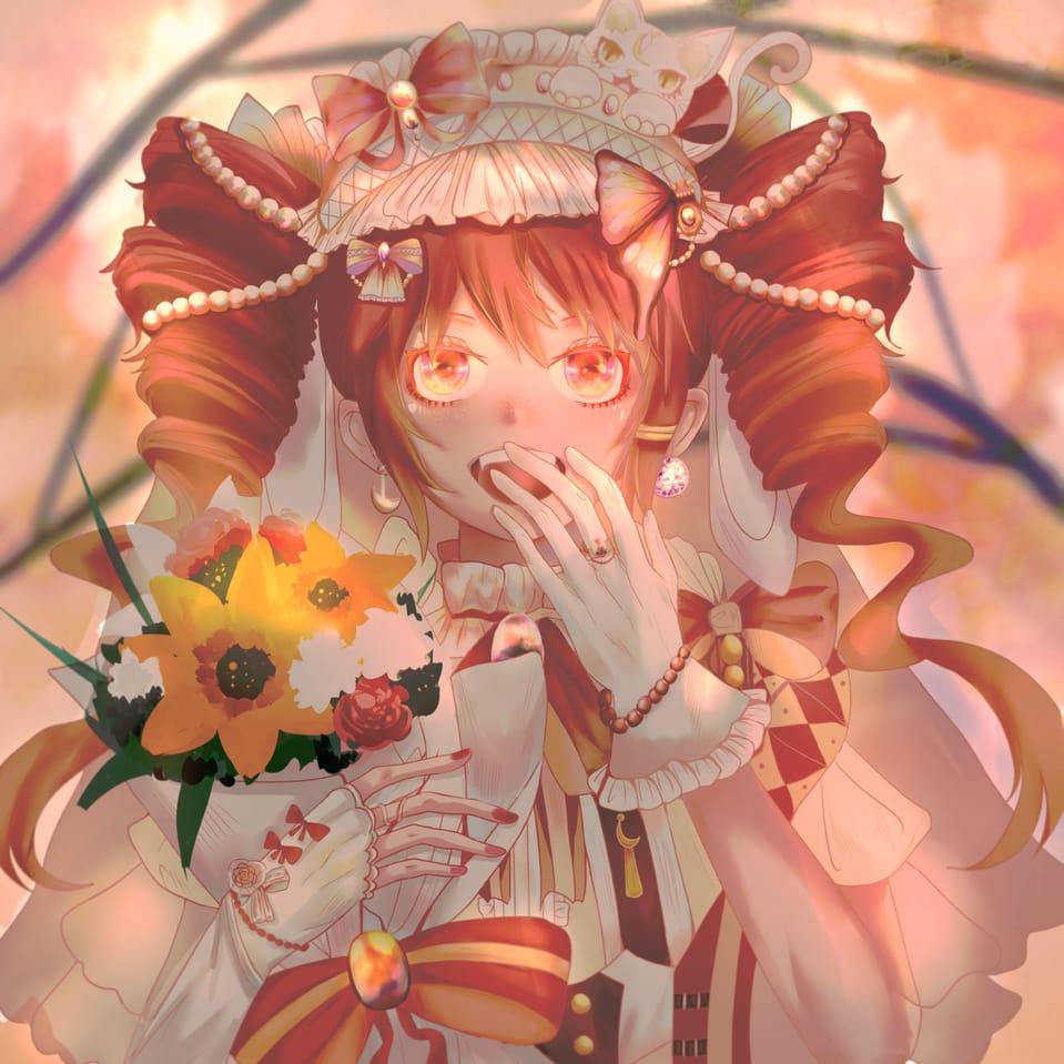 春日的花嫁 Illust of kolsei April2021_Flower 双子星公主 illustration 美少女 法音