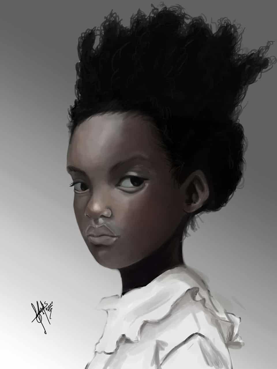 Girl Illust of Eduardo Arvizu paint girl digital