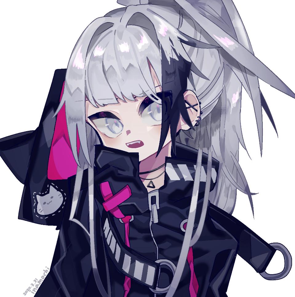オリキャラ(※ちょっとした報告あり) Illust of 停止 oc girl white_hair original