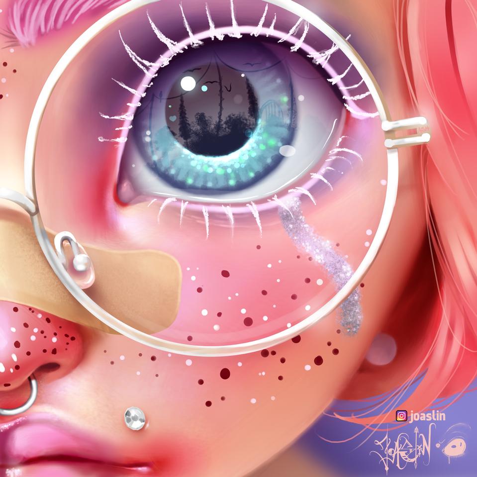 Pink up!💖 Illust of JoAsLiN ARTstreet_Ranking pink eyes girl oc cute art illustration portrait digital anime