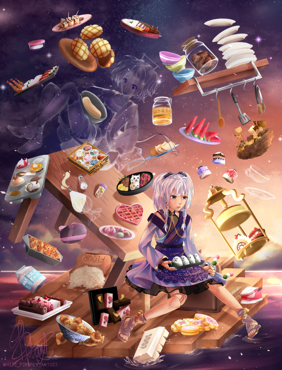 Shiki Illust of Shiro Hotaru October2020_Contest:Food mangagirl anime animegirl manga ishinokokoro mangaart